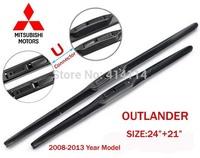 "Car wiper blades for Mitsubishi Outlander 2008-2013 24""+21"" Soft Rubber WindShield Mitsubish Wiper blade 2pcs/PAIR,Free shipping"