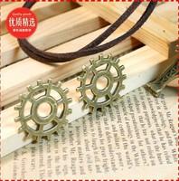 12a  cog wheel shape design  diy necklace bracelet component 40pcs/lot  25*25MM pendants alloy  lucky Charms  Jewelry Findings
