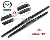 "Car wiper blades for mazda 323 21""+19"" Soft Rubber mazda WindShield  Wiper blade 2pcs/PAIR,Free shipping"