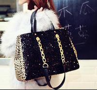 Women Handbags Real Medium(30-50cm) Zipper Bolsas Femininas 2014 New Handbags Korean Leopard Handbag Shoulder Bag Women Boutique