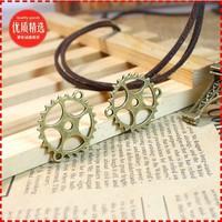 8a  cog wheel shape design  diy necklace bracelet component 40pcs/lot  28*25MM pendants alloy  lucky Charms  Jewelry Findings