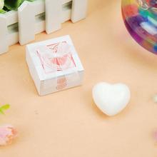 NEW Special prodcutsMini- soap series - white heart-shaped soap box(China (Mainland))