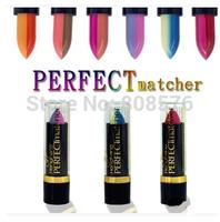 Free Shipping women Wholesale 12 pieces/lot Colorful Tempting Lipstick 12 colors Pure Color Lip Cream matte makeup