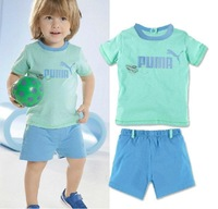 Free shipping 100% cotton summer baby-selling T-shirt + shorts leisure 6-24M Baby Suits