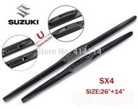 """Car wiper blades for SUZUKI SX4 26""""+14"""" Soft Rubber suzuki WindShield  Wiper blade 2pcs/PAIR,Free shipping"""