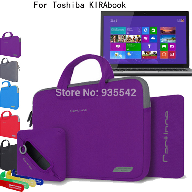 For Toshiba KIRAbook 13 i7 /i5 13.3'' TouchScreen Laptop 4in1 Computer Portable Nylon Lycra Fabric Handle Carrying Sleeve Case(China (Mainland))