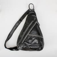 High Quality Brand Vintage Retro Casual Genuine Oil Wax Leather Cowhide Men Chest Bag Messenger Shoulder Bag Bags For Men BB862