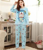 Fashion women pajamas winter set sleepwear night clothes nightwear long nightgown home clothes Dora A dream women's homewear