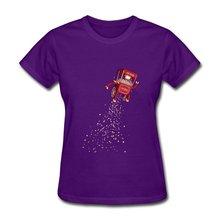 New 2014 Casual TeeShirt Woman Pop Machine Print Love Logo T Shirts Womens