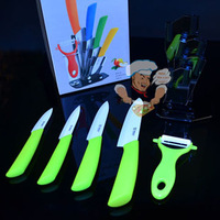 Ceramic Knife Sets 3 4 5 6 Kitchen Knives  Peeler Holder / eight colors can select / Made of Zirconia super sharp / Freeshipping