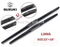 "Car wiper blades for SUZUKI LIANA 22""+18"" Soft Rubber suzuki WindShield  Wiper blade 2pcs/PAIR,Free shipping"