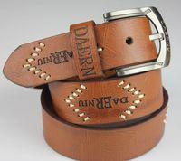 2014 brand Cowskin Leather Belt Men Vintage Belt Brand Fashion Genuine Leather Belts for men