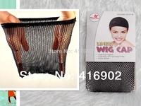 20pcs/lot  great density Stretchable Elastic Fishnet Wig Cap Hair Net Mesh Wig & Weave Cap top  closed