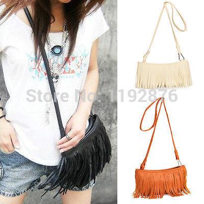 новые моды женщин леди очаровательны кисточкой messenger сумка руку стиль сумка кошелек Сумки на плечо
