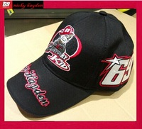 2014 the newest 69# Nicky Hayden sign F1 Racing cap embroidery Car Motorcycle sports red black  Baseball hat cap Drop shipping