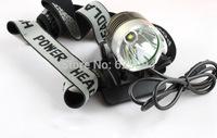 2pcs/lot 2 in1 T6 Bike Light & Headlight CREE XMLT6 LED1800 Lumens 3 Mode Waterproof Bicycle Light + 6400mah Battery