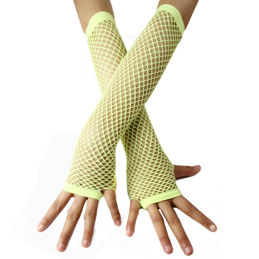 Green Fishnet Gloves Green Fishnet Gloves