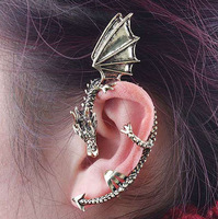 Wholesale 100 pcs  retro Kiss of the Dragon No pierced ears  earring
