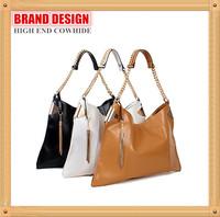 Big Brand High End Metal Tassels Fashion Handbag,Genuine Leather Hipster Shoulder Bag,Celebrity Style Bolsas de Ombro,G123