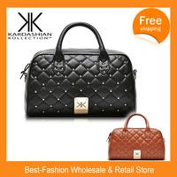 Free shipping,Hot single shoulder bag tote bag Kardashian kollection women's handbag 2014 handbag messenger bag rivet bag kk