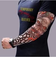 New! Nylon Stretchy Temporary Tattoo Sleeves New Fashion Arm Stockings free shipping