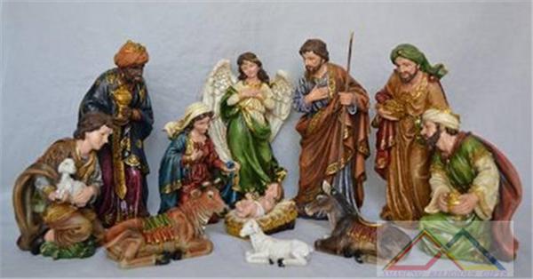 8' Christmas nativity sets, christ child polyresin, 2014 religious crafts(China (Mainland))