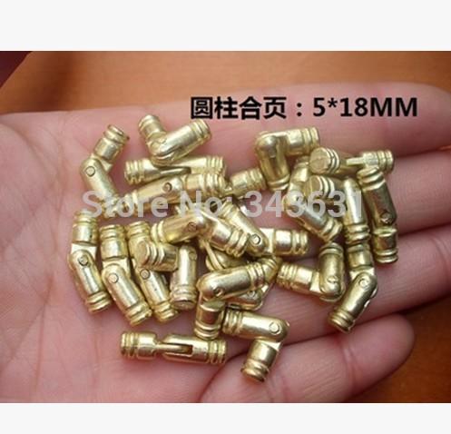 100PCS/LOT 5 * 18 cylindrical hinge hardware support gift box hinge cylinder alloy hinge(China (Mainland))