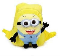 Cartoon little yellow man stuffed bag backpack children school bag nursery new fashion