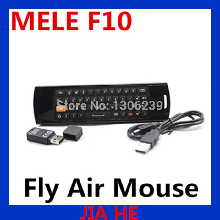 MeLE F10 Fly Air Mouse for Internet Android TV Box with G Senor, 2.4GHz Wireless Remote Control plus Complete Keyboard(China (Mainland))