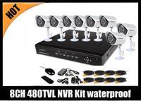8CH D1 CCTV Security DVR Kit 4pcs 480TVL outdoor indoor IR camera system  BQ-DVK7208C8