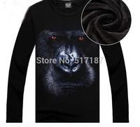 Punk New 2014 Hip hop sweatshirt 3d sweatshirt men Spring/autumn/winter Fashion Plus thick velvet warm sportswear Sport hiphop