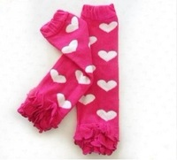 NEW NEW NEW 1 pcs Retail Baby leggings for girls Children's socks knee socks baby lace Leg Warmers with dots