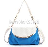 2014 New Hot Sales Fashion Women's Handbag Female Elegant PU Messenger Bag Lady Candy Color Tote Shoulder Bag Sling Bag