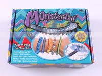 Big discount 1 set/lot MonsterTail Mini Loom Kit for Bracelet Rubber Loom Bands Crafting Kit Monster Tail Loom Kit Free Shipping