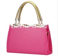 2014 New Hot Sales Fashion Women's Rhombus Pattern Handbag Female Elegant PU Messenger Bag Lady Tote Shoulder Bag Sling Bag