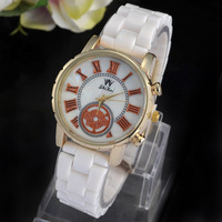 2014 luxury women fashion watch dress women brand watch unisex stainless steel womens quartz casual gold & silver Wristwatches