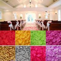 37 colors!1000pcs/lot 4.5cm Wedding Decorations Fashion Artificial Flowers Wholesale Polyester Wedding Rose Petals