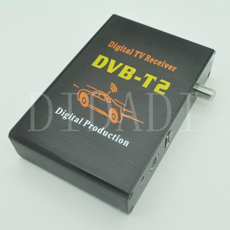 2014 New Hot sales Car DVB-T2 Receiver Digital TV Tuner Receiver DVB T2 Set Top Box Free Shippig(China (Mainland))