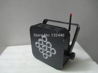 10PCS/lot Free shipping RGBAW 5in1 9x15W Battery wireless DMX led slim par (10 lights+1pc transceiver)