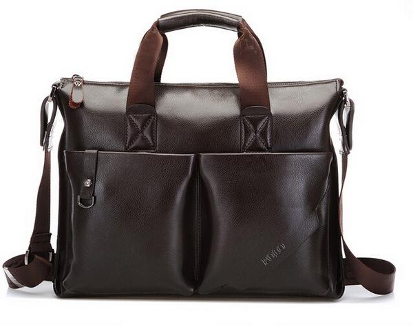 2014 Mens casual briefcase business Shoulder bags Men messenger bags Tote Designer Computer Laptop Handbag Bag Men PU Leather(China (Mainland))