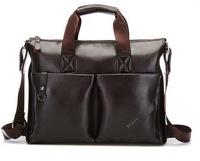 2014 Mens casual briefcase business Shoulder bags  Men messenger bags Tote Designer Computer Laptop Handbag Bag Men PU Leather