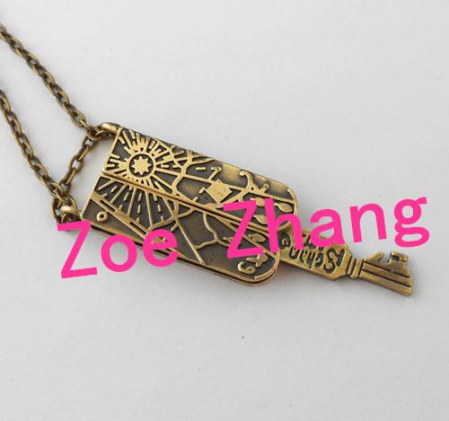Freeshipp1PCS GRIMM key necklace mechanical Nick Burkhardt L01(China (Mainland))