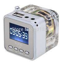 Free Shipping Newest TT-029 Mini Speaker Digital Micro SD/TF Music MP3/4 Player USB Disk White Support FM Radio # 160476