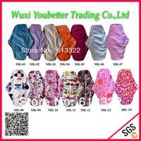 Beautiful Patterns Mama Cloth Washable Feminine Pads Bamboo Daily Use Sanitary Napkins
