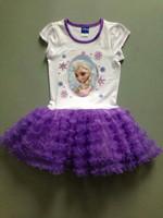 New Summer Frozen Elsa Anna girls tutu dress Girls Elsa princess tutu dress Free shipping