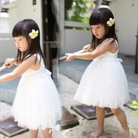 Free shipping  ! New 2014 summer  dress princess girls dress tutu Rose  vest dress 2-6years old
