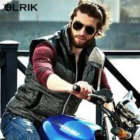 New 2014 OLRIK Collar Vest Motorcycle Jacket for Men Reservoir Cap Bark Locomotive PU+59.5%Polyester casual Sportswear Coat