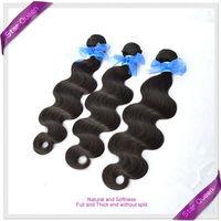 Unprocessed 6A Peruvian Virgin Hair Body Wave Peruvian Hair Weaves 3pcs lot Rosa Luvin hair products Cheap Human Hair Extensions