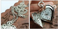 Hot explosion models Korean fashion watch heart-shaped pocket watch necklace personalized gifts