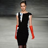 Boutique Fashion Women Runway Stylish Plaid Patchwork Velvet OL Dresses Days Office Wear KC522 Plus Size XXL